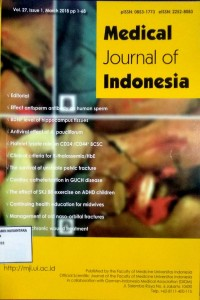 Image of Jurnal Kebidanan Tahun 2018 ; Medical Journal of Indonesia Vol. 27, Issue 1