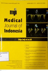 Image of Jurnal Kebidanan Tahun 2016 ; Medical Journal Of Indonesia Vol.25, Issue 2